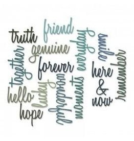 Tim Holtz Thinlits Die Set, Friendship Words: Script 16pk