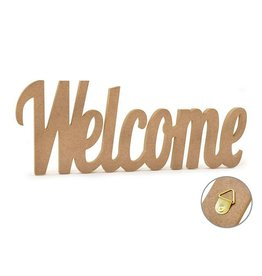 """MultiCraft Wood Craft: 12"""" DIY Word Decor- MDF Standing - D) Welcome"""