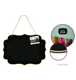 MultiCraft Craft Decor: Chalkboard Wall Plaque w/Jute Cord Hanger - C)  acket Border