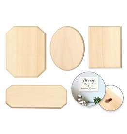 MultiCraft Wood Decor: Standard Plaques Rect/Oval/Cut-Away/Sign (sold individually)