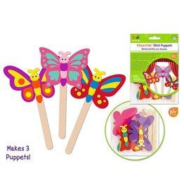 MultiCraft Krafty Kids Kit: DIY Foam Character Stick Puppets x3 - E) Flutter Friends