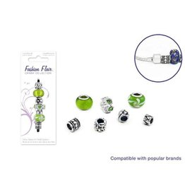 MultiCraft Fashion Flair Glass Beads Metal Spacers