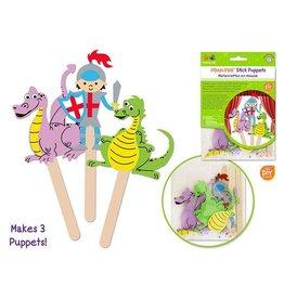 MultiCraft Krafty Kids Kit: DIY Foam Character Stick Puppets x3 - C) A Knight's Tale