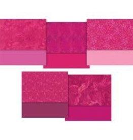"Designer Essentials Precuts-10""X10"" Charm Pack Pink - 42pcs"