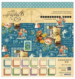 """Graphic 45 Calendar Pad Double-Sided 12""""X12"""" 24/Pkg"""