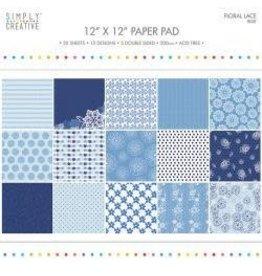 """12""""X12"""" 20/Pkg Blue, 15 Designs/5 Double-Side"""