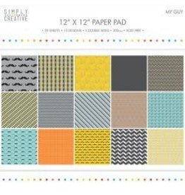 """12""""X12"""" 20/Pkg My Guy, 15 Designs/5 Double-Sided"""
