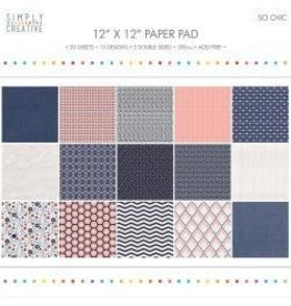 """12""""X12"""" 20/Pkg So Chic, 15 Designs/5 Double-Sided"""