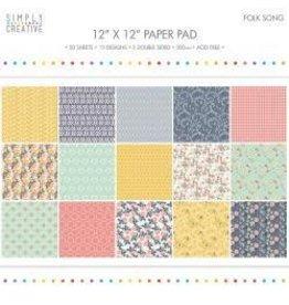 "12""X12"" 20/Pkg Folk Song, 15 Designs/5 Double-Sided"