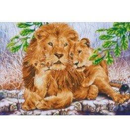 """Diamond Dotz Diamond Embroidery Facet Art Kit 33.5""""X25.5"""" Lion Family"""