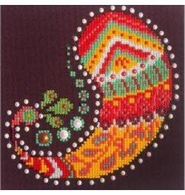 "Diamond Dotz Diamond Embroidery Facet Art Kit 9.75""X9.75"" Paisley Groove"