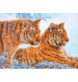 "Diamond Dotz Diamond Embroidery Facet Art Kit 31.75""X23.5"" Tigers In The Snow"