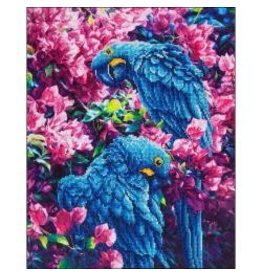 "Diamond Dotz Diamond Embroidery Facet Art Kit 23.5""X17.75"" Blue Parrot"