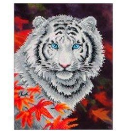 """Diamond Dotz Diamond Embroidery Facet Art Kit 17.25""""X21.75"""" White Tiger In Autumn"""