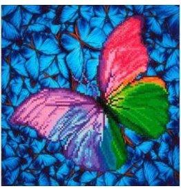 "Diamond Dotz Diamond Embroidery Facet Art Kit 15""X15"" Flutter By Pink"