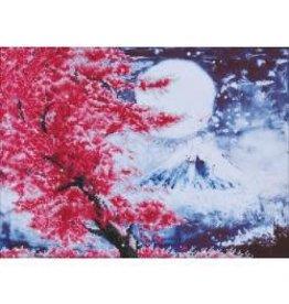 "Diamond Dotz Diamond Embroidery Facet Art Kit 23.5""X18"" Cherry Blossom Mountain"