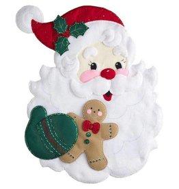 """Santa's Treats Felt Wall Hanging Applique Kit 18""""X22"""""""