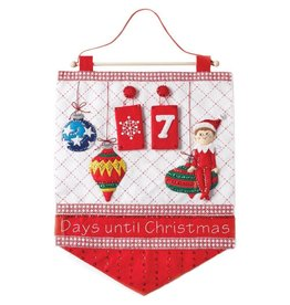 Scout Elf Countdown Advent Calendar Felt Applique Kit