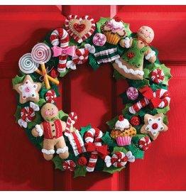 "Cookies & Candy Felt Wreath Applique Kit 15"" Round"