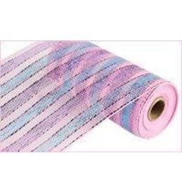 "Craig Bachman 10""X10yd Stripe Wide Stripe Lavender/Turquoise/Pink"