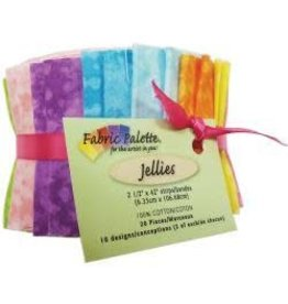 "Fabric Palette Jellies 2.5""X42"" 20/Pkg Top Textures"