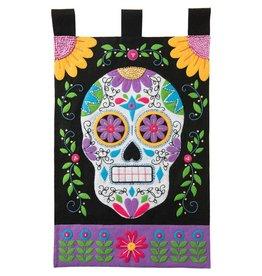 """Bucilla Felt Wall Hanging Applique Kit 15""""X25"""" Sugar Skull"""