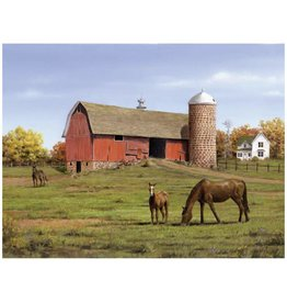 Reeves Horse And Barn Paint By Number