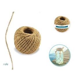 2ply Natural Jute Cord 80g