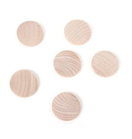 Wood Circle - 1-3/4 x 3/16 inches - 4 pieces