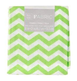 Chevron Quilting Fabric Fat Quarters: Green, 18 x 21 inches