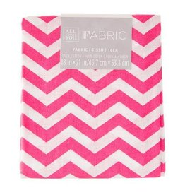 Chevron Quilting Fabric Fat Quarters: Pink, 18 x 21 inches
