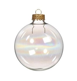Glass Ornament - Iridescent - Round - 70mm - 6 pieces