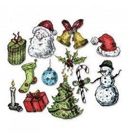 Framelits Die Set, Tattered Christmas 12Pk