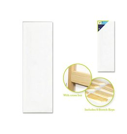 """Stretch Artist Canvas: Rect. 12""""x36"""" Primed Back-Stapled"""