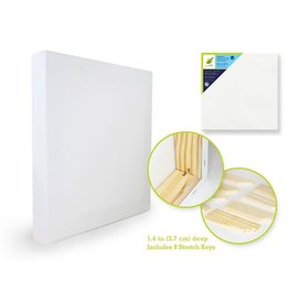 "Stretch Artist Deep Canvas: Square 24""x24"" (3.7cmD) Primed Back-Stapled"