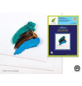 """Artist Canvas Pad: 9""""x12"""" Triple Primed 10 Sheets 100% Cotton"""