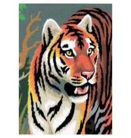 "Mini Paint By Number Kit 5""X7"" Tigers - Junior"