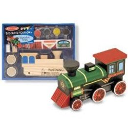 Decorate-Your-Own Wooden Kit Train