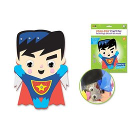 DIY Foam Friends Craft Kit Peel-n-Stick - Super Boy