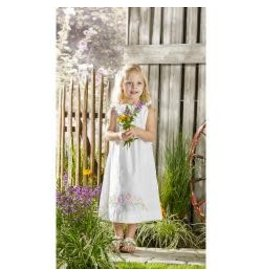 Bucilla Stamped Embroidery Pillowcase Dress Kit Size 3-8 Floral Swag