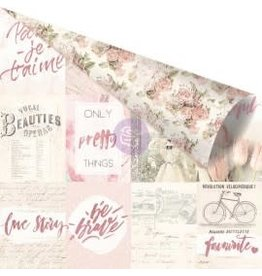 12X12 Patterned Paper, Love Story - Notes That Last Forever