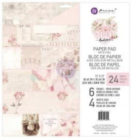 12X12 Paper Pad, Love Story