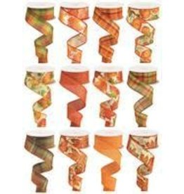 "1.5""X10yd Fall Assortment 12 Assorted Styles"