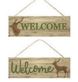 """15""""L X 5""""H Welcome/Deer Sign 2 Asst Styles"""
