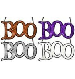 "14.5""L ""Boo"" Word Sign 4 Assorted Colors"