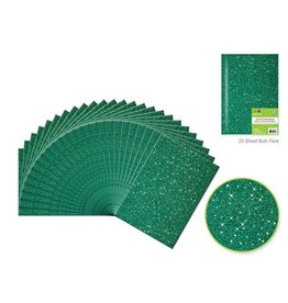 "9""x12"" Glitter Bar-Coded Sheets - Hunter Green"