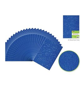 "Felt Squares: 9""x12"" Glitter Bar-Coded Sheets - Royal Blue"