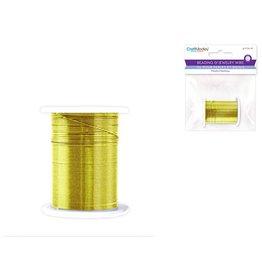 Beading/Jewelry Wire: 28g Metallic Colors 10m Spool - Gold