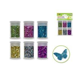Multi Craft Glitter Vials - Metallic Jewel Asst