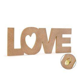 "12"" DIY Word Decor- MDF Standing - Love"